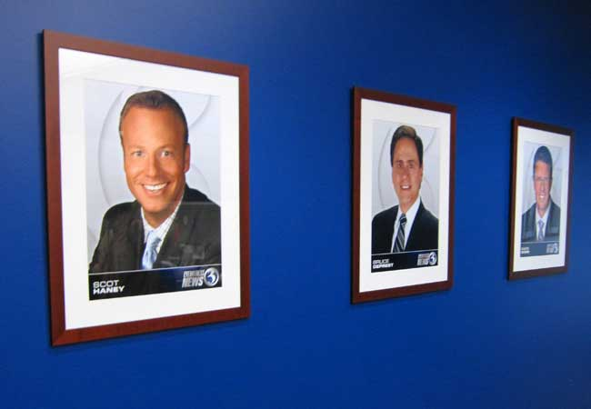 WFSB Channel 3 wall display