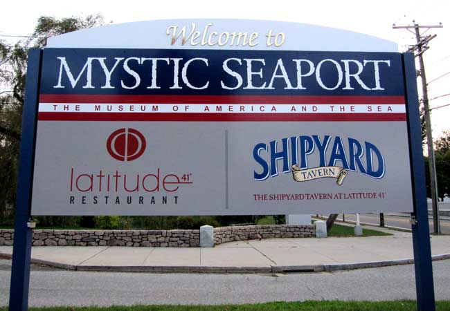 Mystic Seaport signage
