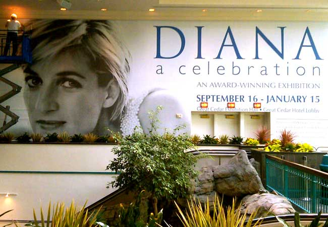 Foxwoods Casino Diana exhibit interior